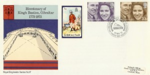 1973 Royal Wedding Royal Engineers No.17 Official FDC King Bastion Gibraltar H/S