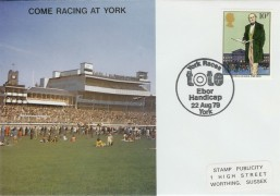 1979 Sir Rowland Hill York Races SP Official FDC, York Races Tote Ebor Handicap York H/S