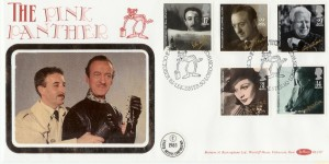 1985 British Film Year, Benham BLCS7, Pink Panther Official FDC, British Film Year Leicester Square London WC2 H/S