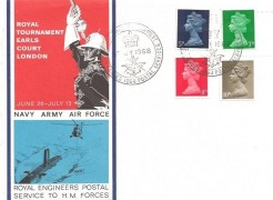 1968 Royal Tournament Earls Court London FDC, The Royal Tournament British Forces 1068 Postal Services H/S