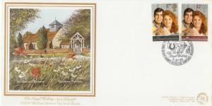 1986 Royal Wedding, Greenberg & Porter All Saints Dummer Official FDC, The Royal Wedding Dummer Basingstoke Hampshire H/S