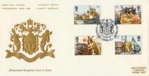 1981 Fishing Stewart Petty Fishmongers Official FDC, Fishmongers Company, London EC4, Fisherman's Year 1981 H/S
