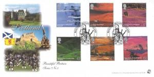 2003 Scotland, Bradbury Sovereign Series No.30 Official FDC, Beautiful Britain Scotland Edinburgh H/S