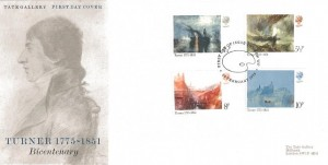 1975 Turner Tate Gallery Special FDC, First Day of Issue London WC H/S