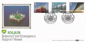 1983 Engineering Benham BP BOCS(2)19 Official FDC, BP Contribution Iolair Aberdeen H/S