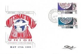 1965 International Communications, Illustrated FDC, Hedge End Southampton cds