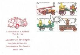 1974 First Fire Service Legislation, Leicestershire & Rutland Fire Service FDC, Leicester FDI