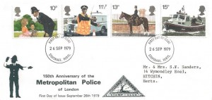 1979 Police, North Herts Stamp Club FDC, Stevenage Herts. FDI