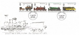 1975 Stockton & Darlington Railway, Illustrated FDC, Chichester West Sussex FDI