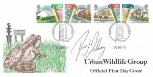 1984 Urban Renewal, The Urban Renewal Wildlife Group FDC, Birmingham Philatelic Counter H/S, Signed by David Bellamy