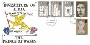 1969 Prince of Wales Investiture, C.Harris of Loughborough Illustrated FDC, Loughborough Leics. FDI
