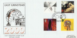 1999 Inventors' Tale East Grinstead Stamp Club Official FDC, East Grinstead Stamp Club  Meridian and the Millennium H/S