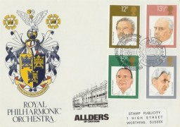 1980 British Conductors SP Allders of Croydon Official FDC, Royal Philharmonic Orchestra London SE1 H/S