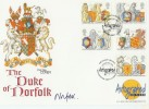 1998 Queen's Beasts Westminster Official FDC. Signed by The Duke of Norfolk, Westminster Abbey, London SW1 H/S