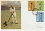 1973 County Cricket Centenary TCCB Official Kent County Cricket Club FDC. Canterbury Kent