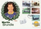 1998 Speed Westminster Official. Signed by Martin Brundle