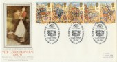 1989 The Lord Mayor's Show Presentation Philatelic Services Silk Exhibition FDC