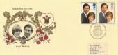 1981 Royal Wedding Veldale Special FDC. Caernarfon H/S Scarce Cover Design