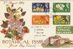 1964 Botanical Illustrated FDC Orinary Set London Road Kingston-on-Thames cds