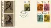 1970 Literary Anniversaries Dickens & Wordsworth FDC, Cockermouth FDI