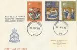 1970 Christmas RAF Hospital Wegberg Philatelic Society FDC