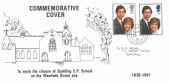 1981 Royal Wedding  Spalding CP School Closure FDC, Spalding Lincs. cds, RARE Cover