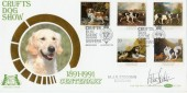 1991 Dogs Benham BCLS60 Official FDC. Signed by M Stockman