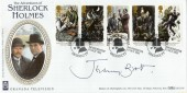 1993 Sherlock Holmes Benham BLCS88 Official FDC. Signed by Jeremy Brett