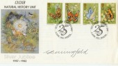 1982 BBC Natural History Unit Silver Jubilee Cover. Signed by G. Benningfield