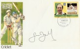 1984  Tuvalu Cricket FDC. Signed by Geoffrey Boycott