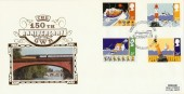 1985 Safety at Sea, 150th Anniversary GWR, Benham BLCS4 Official FDC
