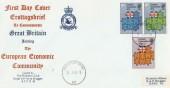 1973 European Communities, RAF Bruggen Official FDC