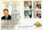1997 Golden Wedding, Westminster Autographed Official FDC, signed James Whitaker