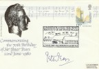 1980 70th Birthday of Sir Peter Pears Tenor Cover, Signed by Himself