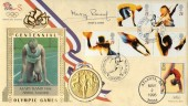 1996 Olympics, Benham Medal FDC, Signed by Mary Rand