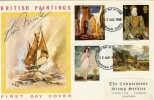 1968 British Paintings Connoisseur FDC, Signed by the Cover Artist