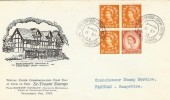 1963 2/- Holiday Booklet Reprint FDC, Very Scarce, Stratford upon Avon cds