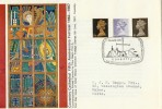 1967 4d, 1/-, 1/9d Definitives, 5th Anniversary Coventry Cathedral FDC