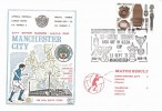 1972 BBC, Dawn Manchester City Official FDC, single 3p Stamp, Manchester City FC Re-Enter Europe Kick Off in UEFA Cup Manchester H/S.