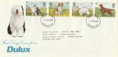 1979 Dogs, Dulux Paints ICI Special FDC, London W1 FDI