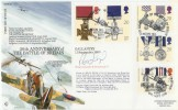 1990 Gallantry, RFDC No.87 Biggin Hill FDC. Signed by Wing Commander Learoyd VC