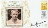 2000 Centenary of The Sheffield Shield Sydney NSW Cover. Signed by Sir Don Bradman.