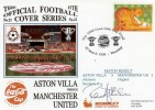 1994 Aston Villa v Man.Utd Coca Cola Cup Final Cover. Signed by Ron Atkinson
