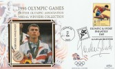 1996 Olympic Games Medal Winners Cover, Signed by Jonathan Edwards