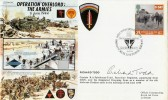1994 D Day Operation Overlord Forces Official FDC. Signed by Richard Todd