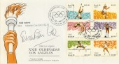1984 Olympics, Los Angeles Brasilian FDC, Signed by Sebastian Coe