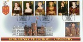 1997 The Great Tudor Henry VIII, School Coventry Official FDC