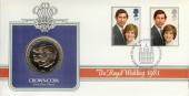 1981 Royal Wedding Westminster Crown Coin FDC