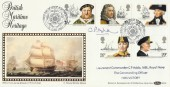 1982 Maritime Heritage, Benham BLS4 FDC, Signed by Lieutenant Commander C P Addis MBE