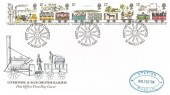 1980 Liverpool & Manchester Railway Post Office FDC, Wolferton Station Museum Cachet, First Day of Issue Liverpool H/S